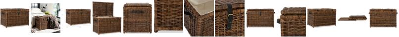 Furniture JONATHAN Y Happimess Michael 35'' Wicker Storage Trunk