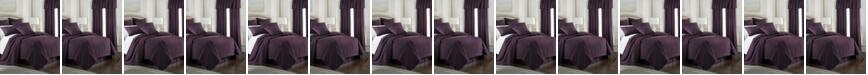 Colcha Linens Cambric Eggplant Duvet Cover-Full