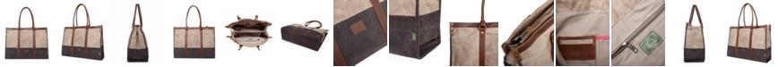 TSD BRAND Stone Creek Waxed Canvas Tote Bag