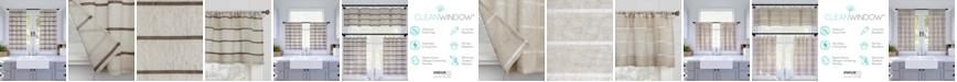 "Clean Window Twill Stripe Anti-Dust Cafe Curtain Pair, 52"" x 24"""