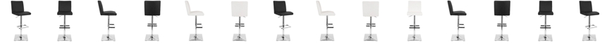 Lumisource Captain Adjustable Barstool with Swivel in Faux Leather