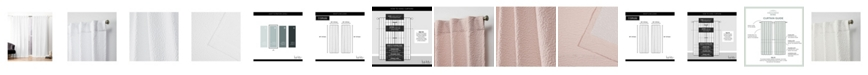 "Nicole Miller Textured Matelasse Hidden Tab Top Curtain Panel Pair, 50"" X 84"""