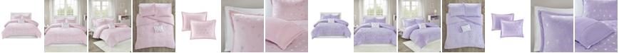 JLA Home Mi Zone Rosalie Twin/Twin XL 3 Piece Metallic Heart Printed Comforter Set