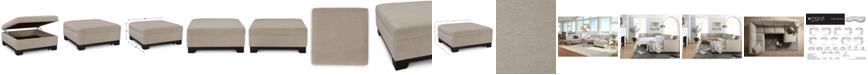 "Furniture Elliot II 36"" Fabric Square Storage Ottoman, Created for Macy's"