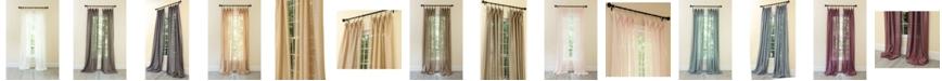 Manor Luxe La Rosa Metallic Semi Sheer Rod Pocket Curtain Collection