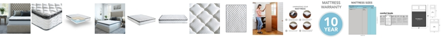 "Sleep Trends Davy 10"" Wrapped Coil Pillowtop Firm Mattress- Full, Mattress in a Box"