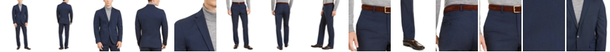 Kenneth Cole Men's Slim-Fit Stretch Navy Suit