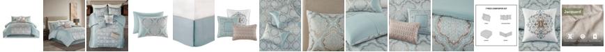 Madison Park Mariella California King Jacquard Comforter, Set of 7