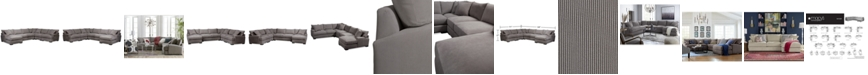 Furniture Rhyder 5-Pc. Fabric Sectional Sofa with Chaise, Created for Macy's