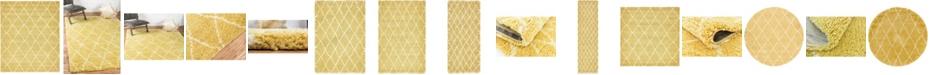 Bridgeport Home Fazil Shag Faz3 Yellow Area Rug Collection