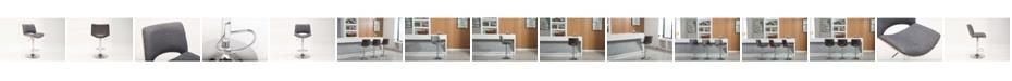 Boraam Gordon Collection Bentwood Adjustable Swivel Stool