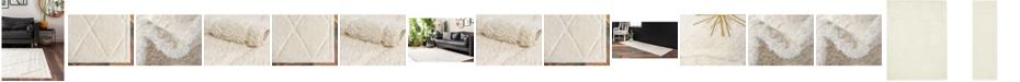 Bridgeport Home Filigree Shag Fil1 Ivory Area Rug Collection