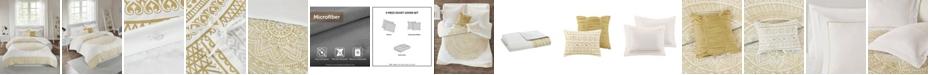 Intelligent Design CLOSEOUT! Nomad Twin/Twin XL 4 Piece Metallic Medallion Printed Duvet Cover Set