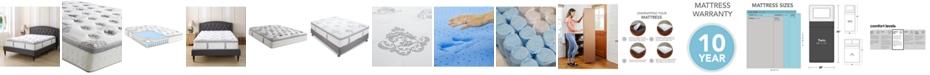 """Sleep Trends Doran 12"""" Wrapped Coil Hybrid Pillow Top Mattress- Twin, Mattress in a Box"""