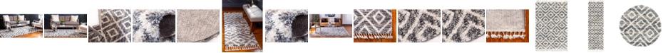 Bridgeport Home Lochcort Shag Loc2 Gray Area Rug Collection