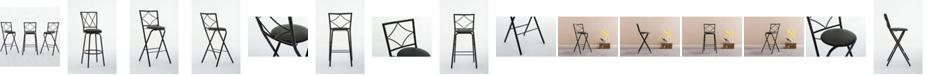 Boraam Glen Collection Folding Barstools, 3 Pack