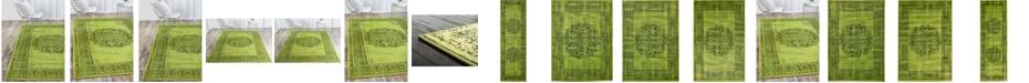 Bridgeport Home Linport Lin5 Sage Green Area Rug Collection