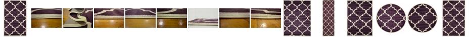 Bridgeport Home Arbor Arb3 Dark Purple Area Rug Collection