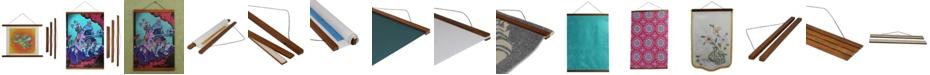 "3 Stories Trading Magnetic Wooden Poster Hanger Frame - 12"" x 1"""