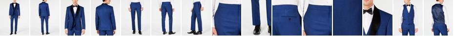 Ryan Seacrest Distinction Men's Slim-Fit Stretch Cobalt Blue Tuxedo Suit Separates, Created for Macy's