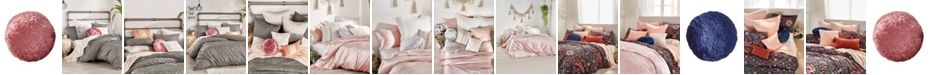 Peri Home Round Crushed Velvet Macaron Decorative Pillow