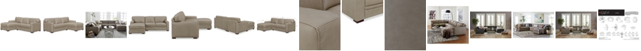 Furniture Avenell 2-Pc. Leather Sectional with Chaise, Created for Macy's