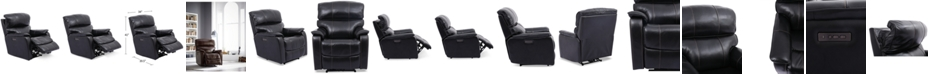 """Furniture Hatherleigh 34"""" Leather Dual Power Recliner with USB Power Outlet"""
