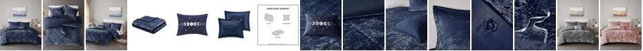 Intelligent Design Felicia Velvet 4-Piece Full/Queen Duvet Cover Set