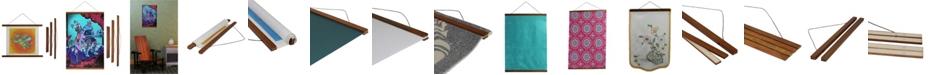 "3 Stories Trading Magnetic Wooden Poster Hanger Frame - 18"" x 1"""