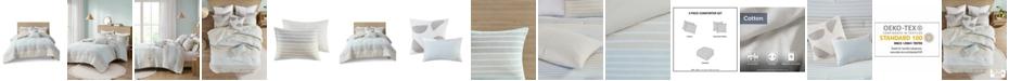 Urban Habitat Hayes King/California King Woven Stripe Cotton Gauze Comforter, Set of 5