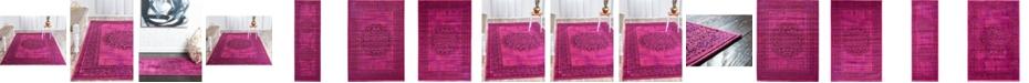 Bridgeport Home Linport Lin5 Fuchsia Area Rug Collection