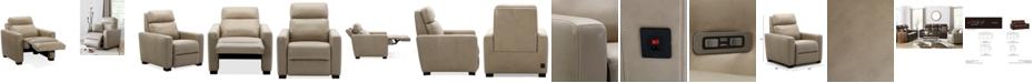 "Furniture Hayvon 35"" Leather Dual Power Recliner"