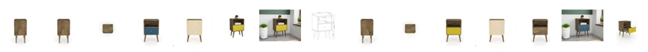 Manhattan Comfort Liberty Mid Century - Modern Nightstand 1.0 with 1 Cubby Space and 1 Drawer