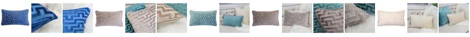 Homey Cozy Jasmine Modern Maze Rectangle Decorative Throw Pillow