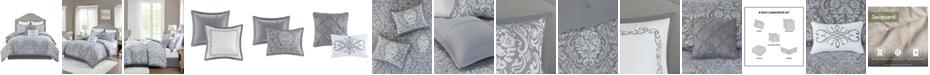 Madison Park Flourish Queen Jacquard Comforter, Set of 8