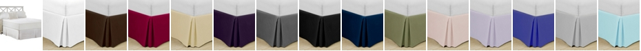 "Swift Home Home Basic Easy Fit Microfiber Pleated 14"" Drop Full Bedskirt"