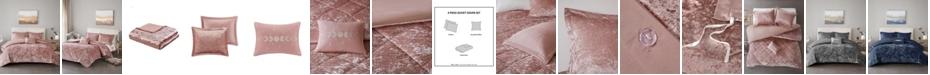 Intelligent Design Felicia Velvet 3-Piece Twin/Twin XL Duvet Cover Set