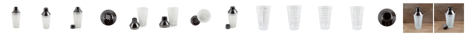 Thirstystone Frosted Glass Recipe Shaker With Black Stainless Steel Cap and Strainer