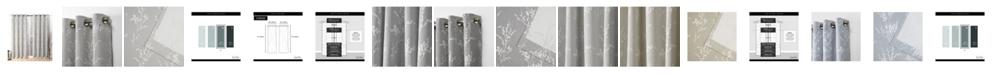 """Nicole Miller Turion Floral Blackout Grommet Top Curtain Panel Pair, 52"""" X 96"""""""