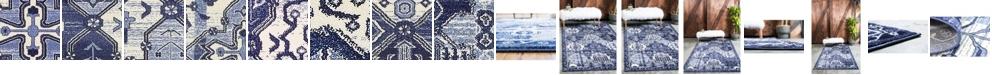 Bridgeport Home Aldrose Ald1 Blue Area Rug Collection