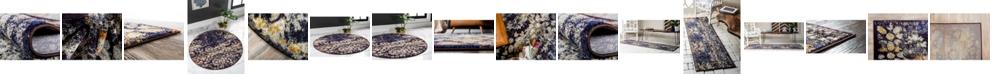 Bridgeport Home Brio Bri1 Navy Blue Area Rug Collection
