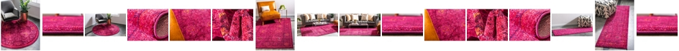Bridgeport Home Sana San4 Fuchsia Area Rug Collection