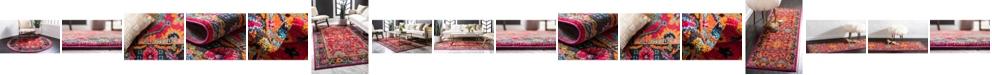 Bridgeport Home Sana San7 Fuchsia Area Rug Collection