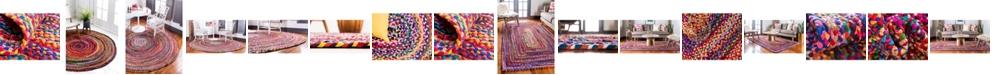 Bridgeport Home Roari Cotton Braids Rcb1 Multi Area Rug Collection