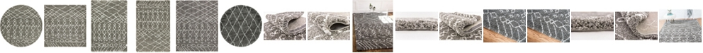 Bridgeport Home Fazil Shag Faz2 Gray Area Rug Collection