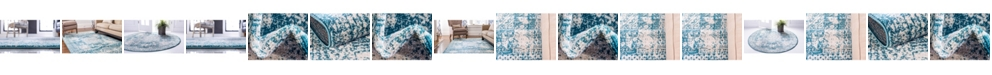 Bridgeport Home Mobley Mob2 Turquoise Area Rug Collection