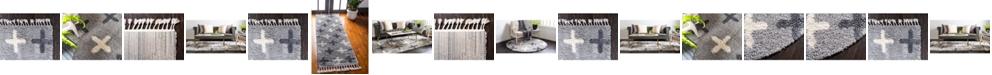 Bridgeport Home Lochcort Shag Loc7 Light Gray Area Rug Collection