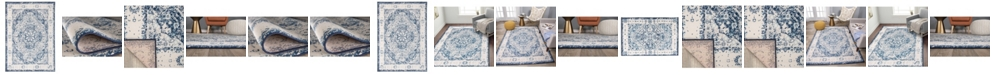 Main Street Rugs Home Lyon Lyn830 Blue Area Rug Collection