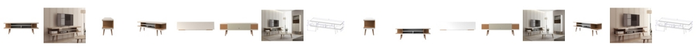 """Manhattan Comfort Utopia 70.47"""" TV Stand with Splayed Wooden Legs and 4 Shelves"""