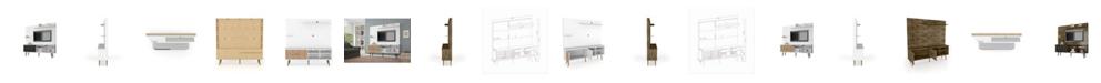 """Manhattan Comfort Liberty 70.87"""" Freestanding Entertainment Center with Overhead Shelf"""